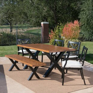 Woodcock Outdoor 6 Piece Dining Set with Cushions