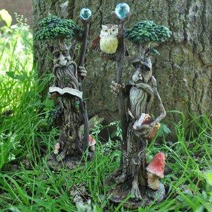 2 Piece Como Tree Ent - Pair With Scrolls & Books Fairy Garden Set (Set Of 2) Image