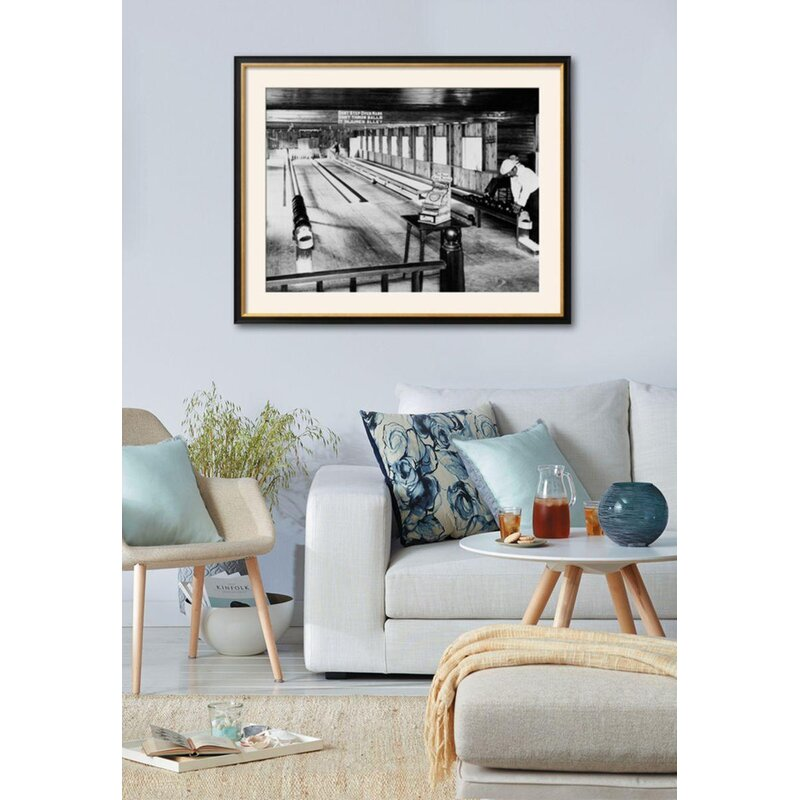 Ebern Designs \'Olentangy Park Bowling Alleys, Columbus, Ohio\' Framed ...