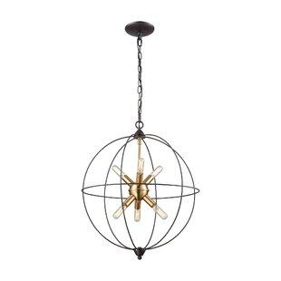 Mercury Row Cogdill 6-Light Globe Pendant