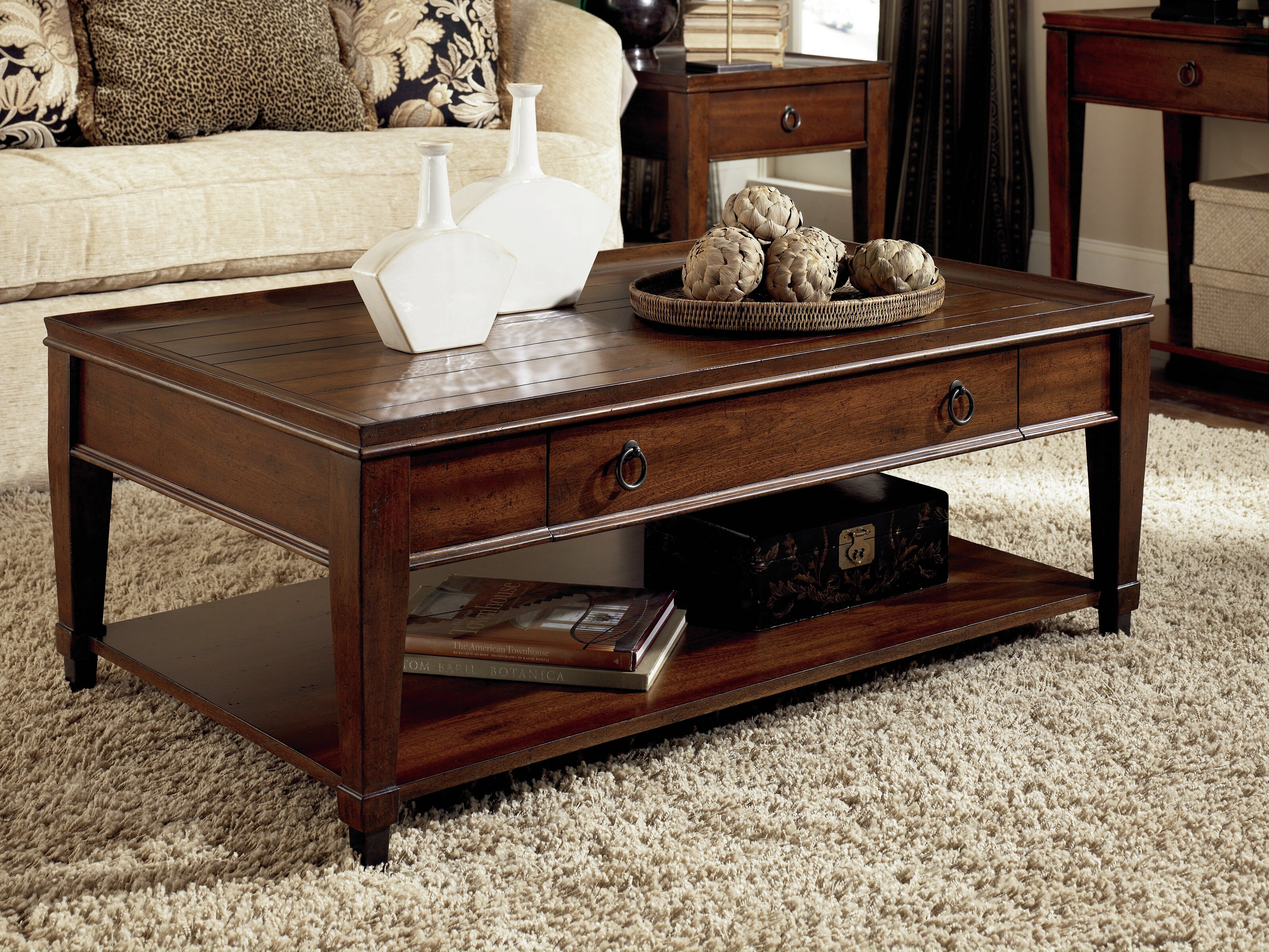 Coffee Table Industrial Sofa Table Desk Wood Effect Mantel Magazine Table