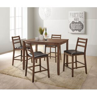 Gammage 5 Piece Counter Height Dining Set by Ivy Bronx Today Sale Only