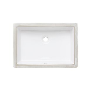 Affordable Price Ceramic Rectangular Undermount Bathroom Sink with Overflow By American Imaginations