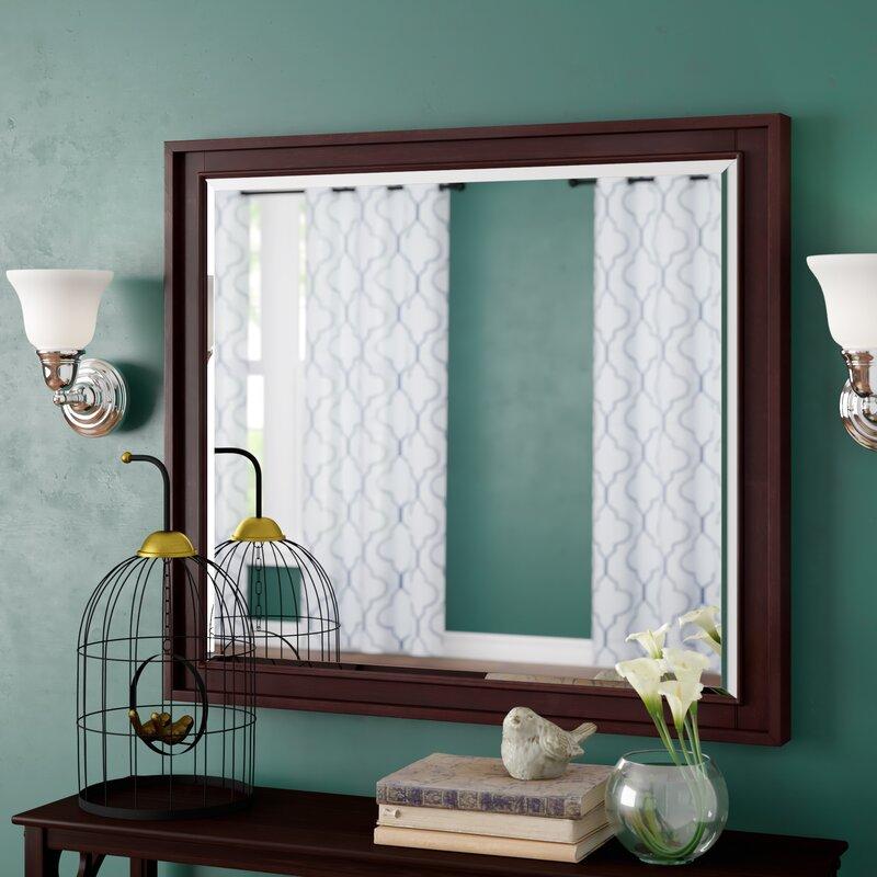 Andover Mills Northfield Rectangle Light Espresso Wall Mirror