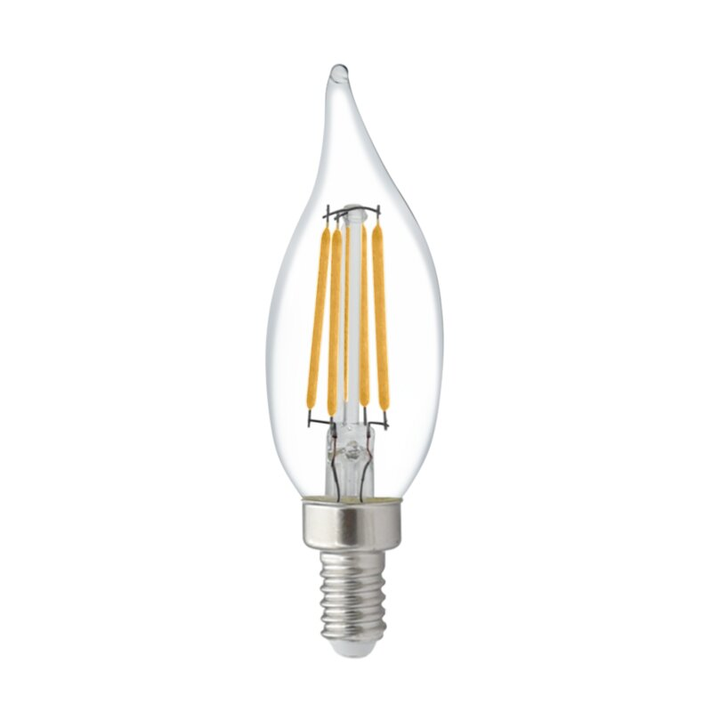 Candex Lighting 4 Watt 40 Watt Equivalent Ca10 Led Dimmable Light Bulb Warm White 2700k E12 Candelabra Base Reviews Wayfair