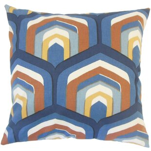 Shana Geometric Down Filled 100% Cotton Lumbar Pillow
