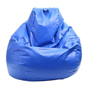 Gold Medal Teardrop Vinyl Bean Bag Chair