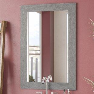 Reviews Brushed Silver Wall Mirror ByBrayden Studio