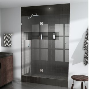 42 x 78 Hinged Frameless Shower Door By Glass Warehouse