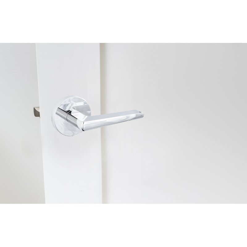 Sure-Loc Hardware BS107-SQ 26 Basel Entry Lever Polished Chrome