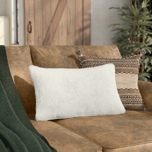 Sheba Rectangular Faux Fur Lumbar Pillow