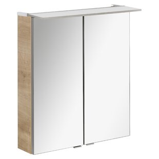 85 X 63cm Surface Mount Mirror Cabinet With LED Lighting By Fackelmann