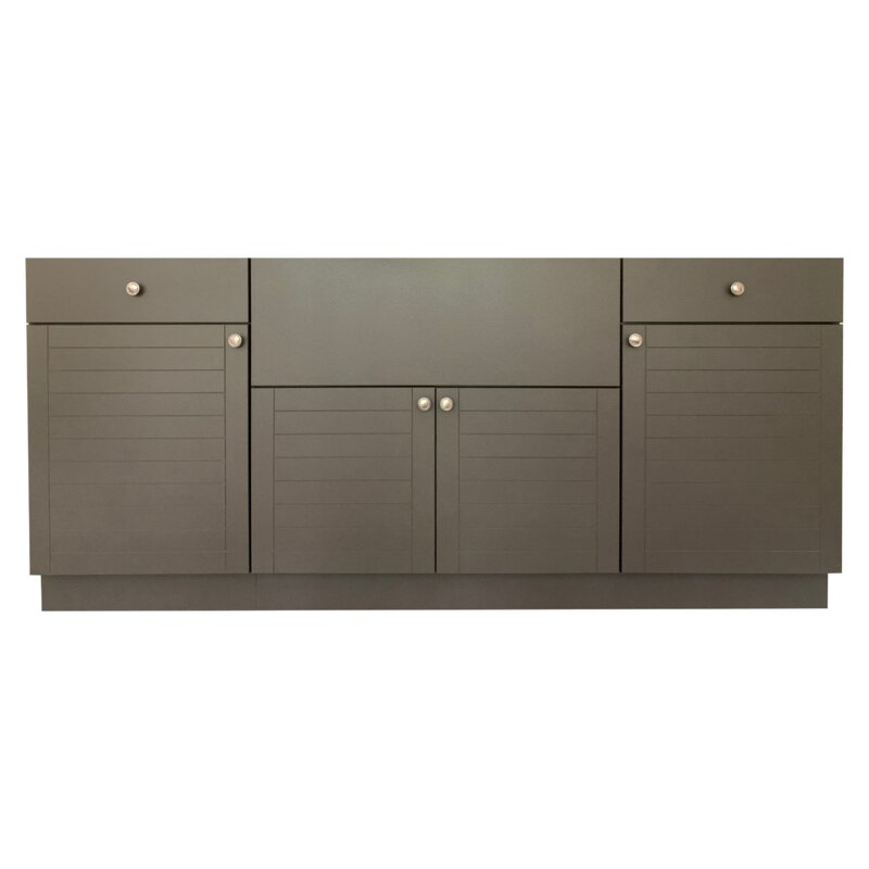 Marbella Outdoor Inc 77 5 Piece Modular Outdoor Kitchen Cabinet Wayfair