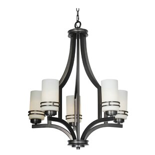 Mariana Home Uptown 5-Light Shaded Chandelier