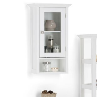 Affordable Acadian Single Door 15.75 W x 27.96 H Wall Mounted Cabinet BySimpli Home