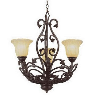 Kerens 3-Light Shaded Chandelier by Fleur De Lis Living