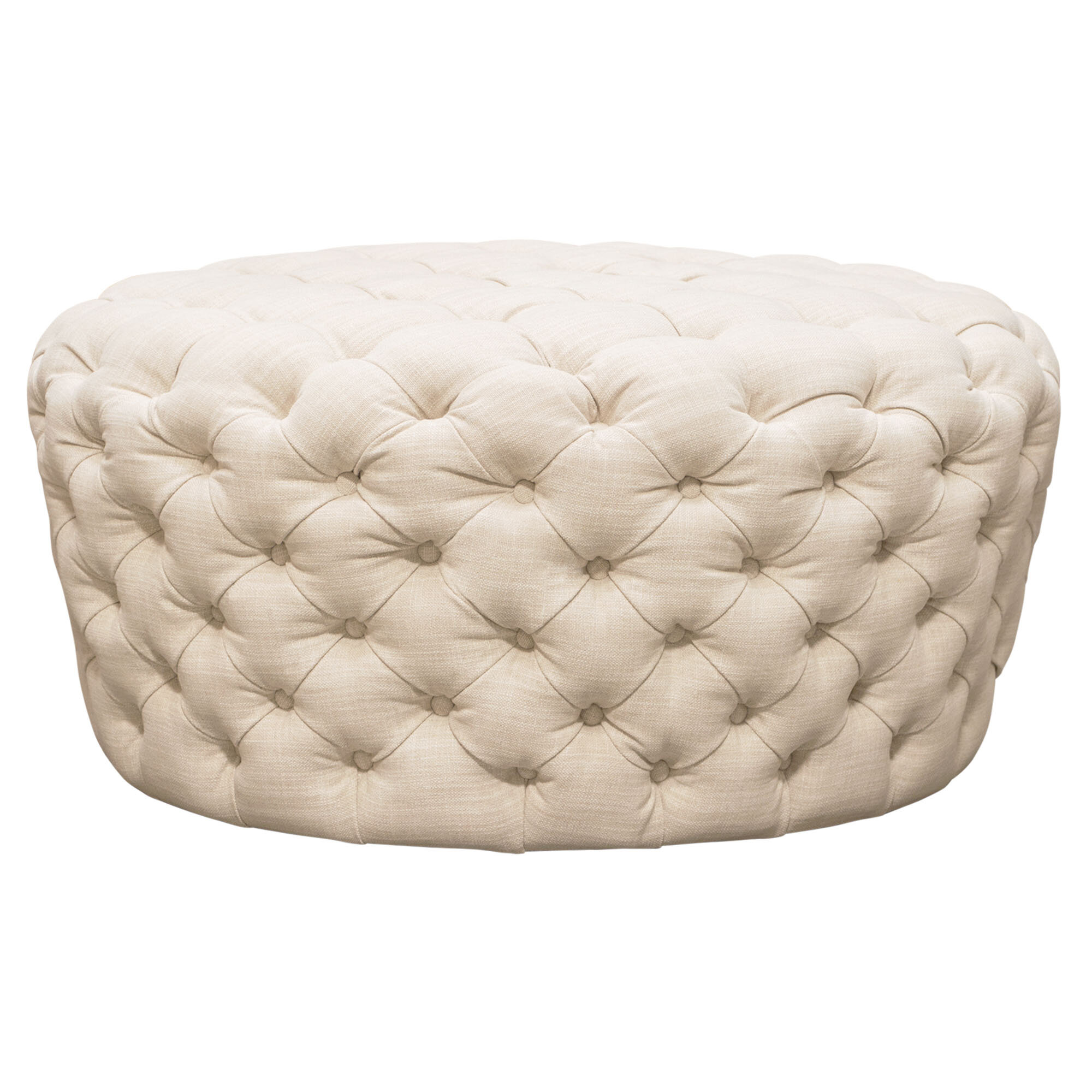 Surprising Posh Round Tufted Pouf Machost Co Dining Chair Design Ideas Machostcouk