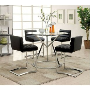 Becket Contemporary 5 Piece Pub Table Set