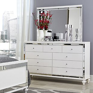 Rivage 9 Drawer Dresser With Mirror