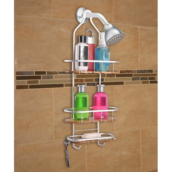 UtopiaAlley Teak 3 Shelf Rustproof Shower Caddy & Reviews | Wayfair