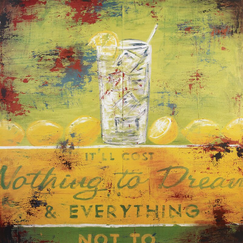 Ophelia Co Nothing To Dream Vintage Advertisement On Wrapped Canvas Reviews Wayfair