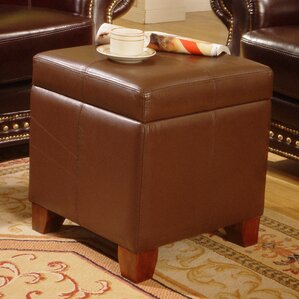 storage leather ottoman - Brown Leather Ottoman