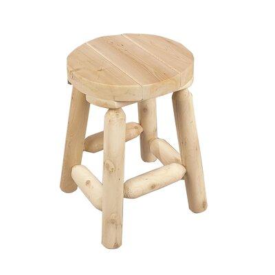 "Rustic Natural Cedar Furniture 18"" Bar Stool"