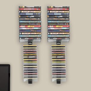 Multimedia Wall Mounted Storage Rack (Set of 4) by Symple Stuff