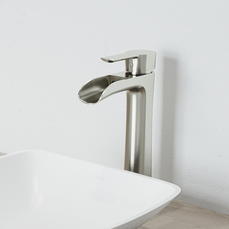 Picture of: Brushed Nickel Waterfall Bathroom Sink Faucets You Ll Love In 2020 Wayfair