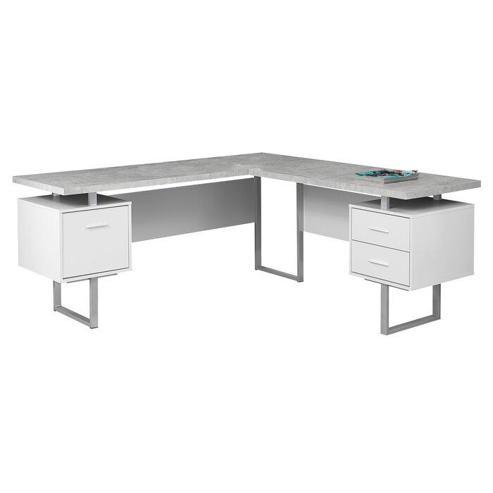Sova 3 Drawer L-Shape Executive Desk