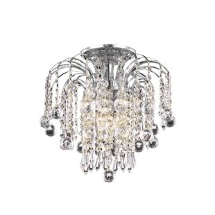 Living District Addison 3-Light Semi Flush Mount