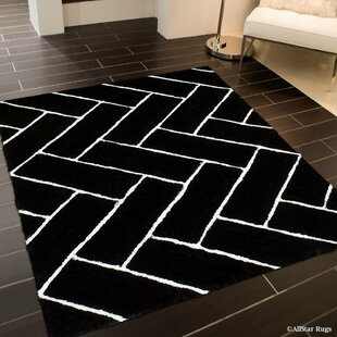 Online Reviews Hand-Tufted Black Area Rug By AllStar Rugs