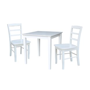 Croce 3 Piece Solid Wood Dining Set