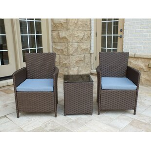Red Barrel Studio Rockleigh 3 Piece Conversation Set with Cushions