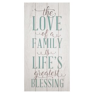 b6d565e85ff5  The Love of a Family is a Life s Greatest Blessing  Textual Art on Wood