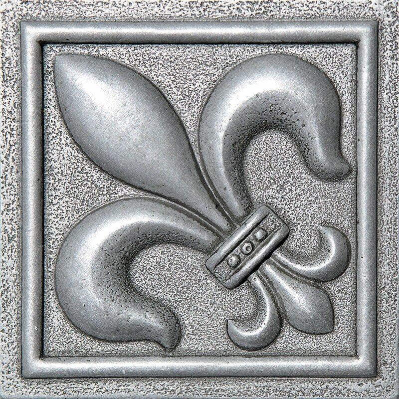 4 X Fleur De Lis Deco Accent Tile