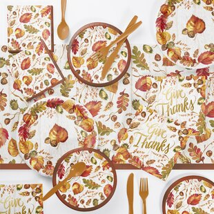 Arya Fall Give Thanks 73 Piece Party Supplies Kit
