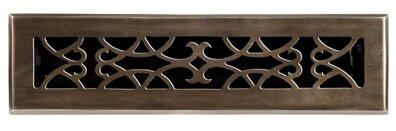 Brass Elegans 2 25 X 12 Solid Cast Brass Floor Register Trim In Antique Brass Wayfair