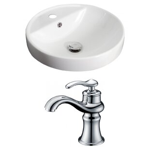 Best Reviews Ceramic Circular Drop-In Bathroom Sink with Faucet and Overflow By American Imaginations