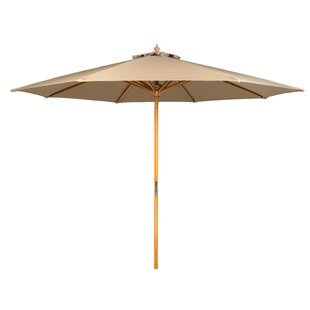 Winston Porter Junkins Wood Frame Patio 9' Market Umbrella