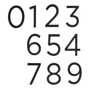 Surface Mount House Number