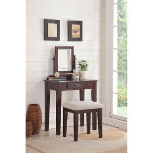 Charlton Home Holthaus Wooden Vanity Set