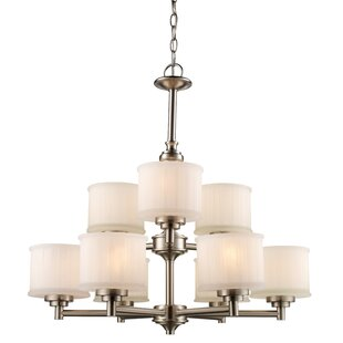 Darby Home Co Wedgewood 9-Light Shaded Chandelier