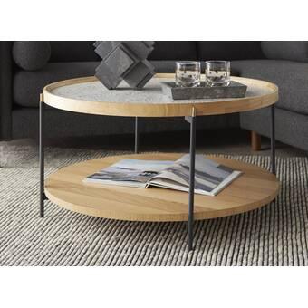 Everly Quinn Singletary Marble Round Coffee Table Wayfair