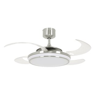 48 Fanaway 4 Blade Ceiling Fan with Remote, Light Kit Included by Latitude Run