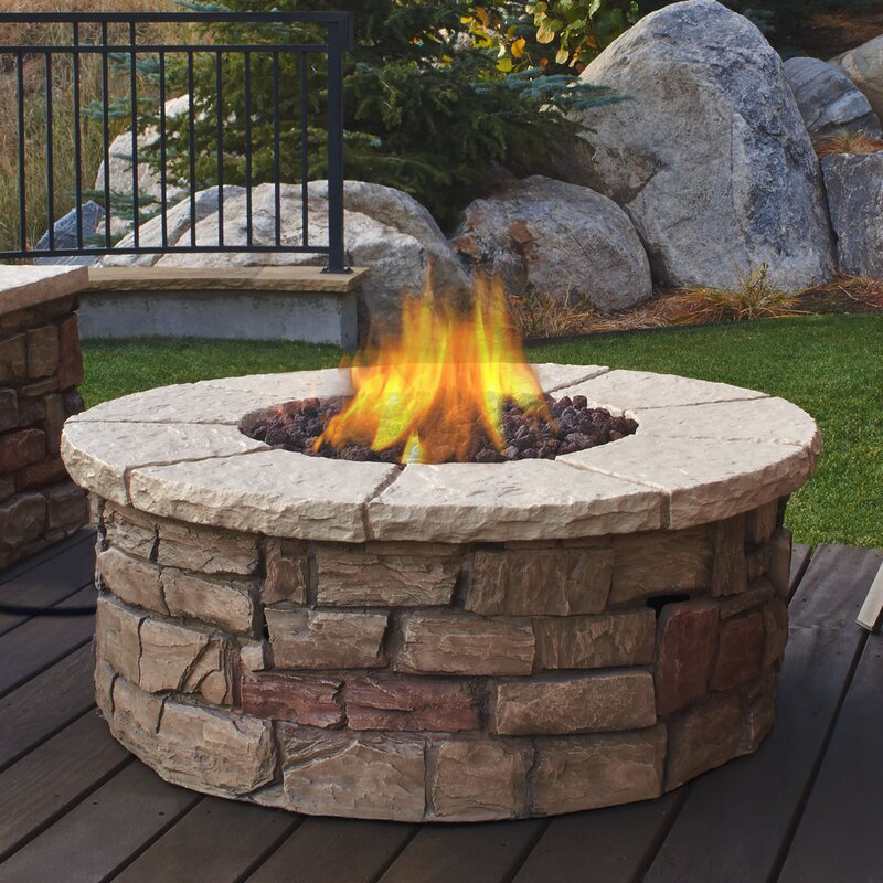 real flame sedona concrete propane fire pit table reviews. Black Bedroom Furniture Sets. Home Design Ideas