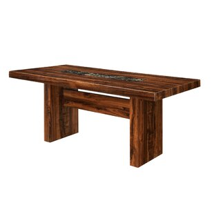 Hermínio Solid Wood Dining Table Red Barrel Studio