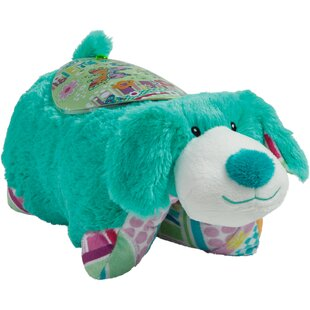 Pillow Pets Sleeptime Lite Colorful Teal Pup Plush Night Light