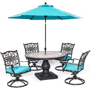 Bucci 6 Piece Dining Set by Fleur De Lis Living