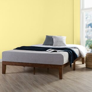 Harlow Solid Wood Platform Bed Frame with Classic Wooden Slat